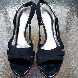 Fioni Black Dress sandals, 9.5 sz,